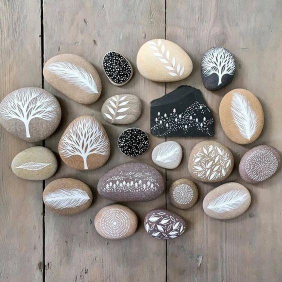 Идеи росписи камней с детьми