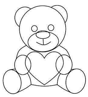 Как нарисовать медвежонка с сердечком