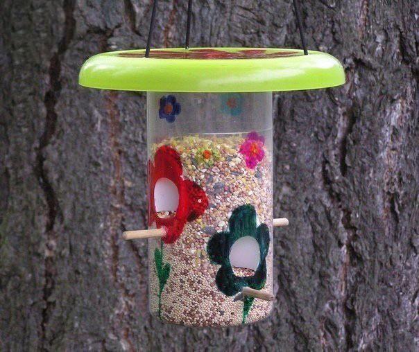 Мастерим с детьми кормушки для птиц: идеи