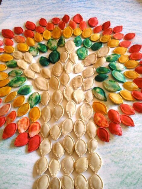 Поделки из тыквенных семечек