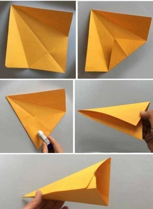 Изготовление объемной бабочки из бумаги