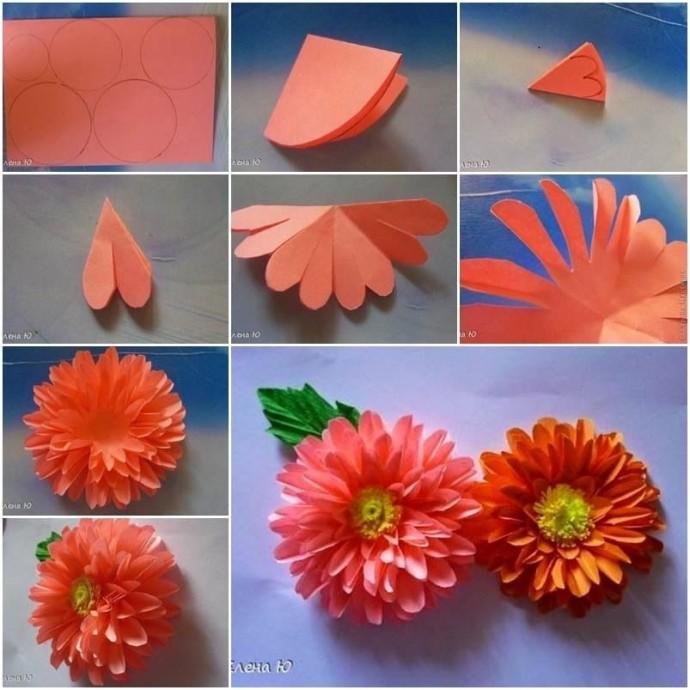 Цветок из бумаги 1