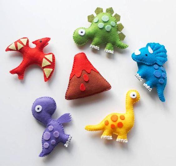 Динозавры из фетра 3