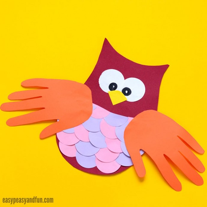 Сова с крыльями-ладошками