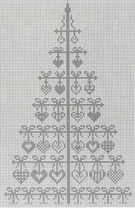 Вышиваем ёлочки: разные схемы 7