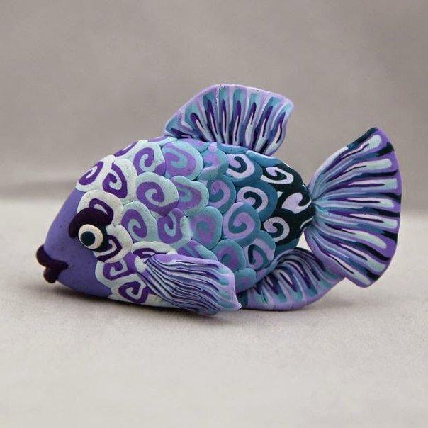 Рыбка из полимерной глины