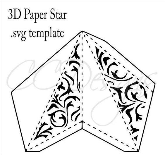 Объемные звездочки-фонарики из бумаги