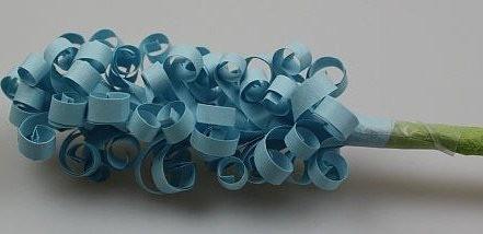 Гиацинты из бумаги детскими руками