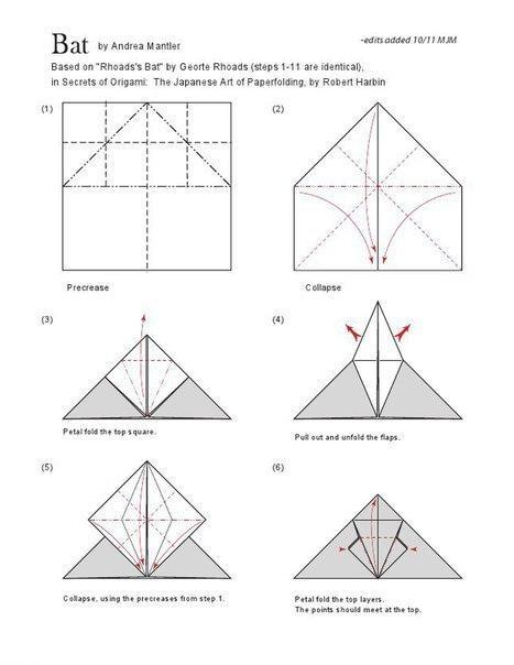 Летучая мышь в технике оригами 1