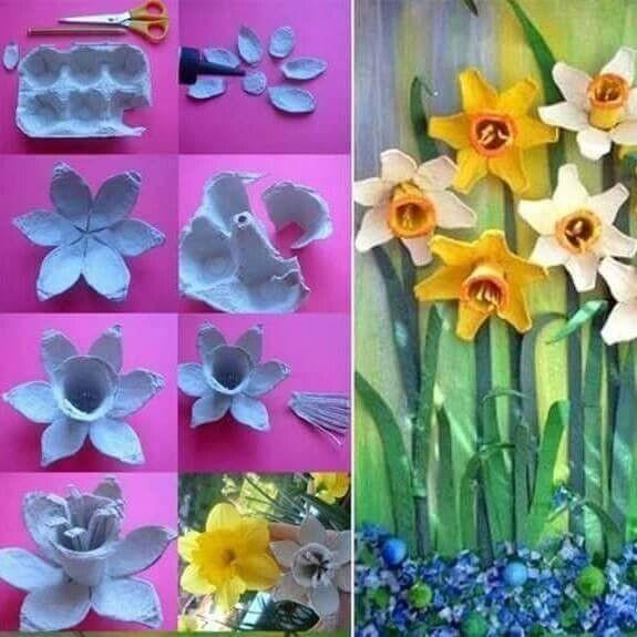 Создаем  с детьми цветочки