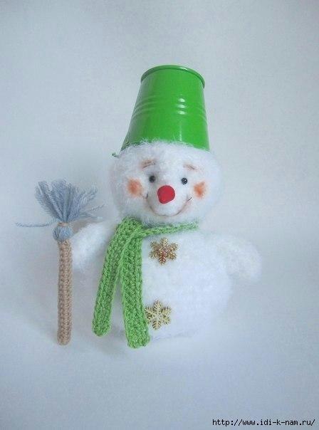 Вязаный снеговик 5