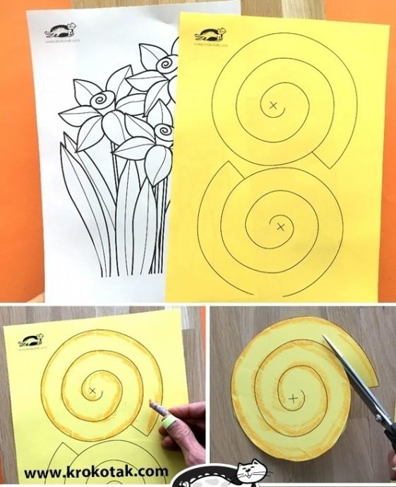 Нарциссы из бумаги