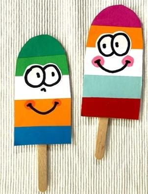 Мороженое из картона