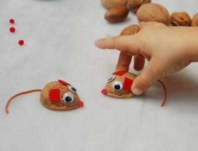 Поделки из скорлупы ореха