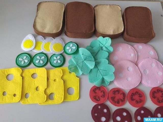 Продукты из фетра: идеи для детского творчества
