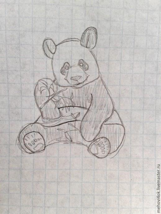 Лепим с детьми крошку-панду из полимерной глины