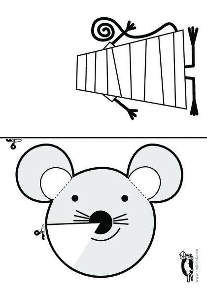 Мышонок с объемной мордочкой