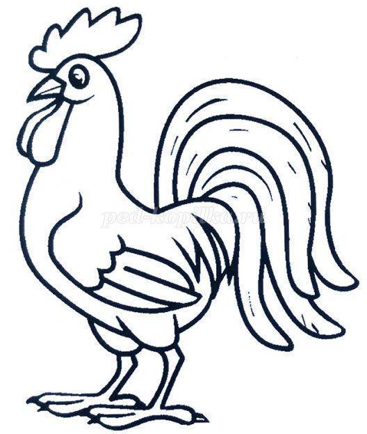 Петушок гуашью