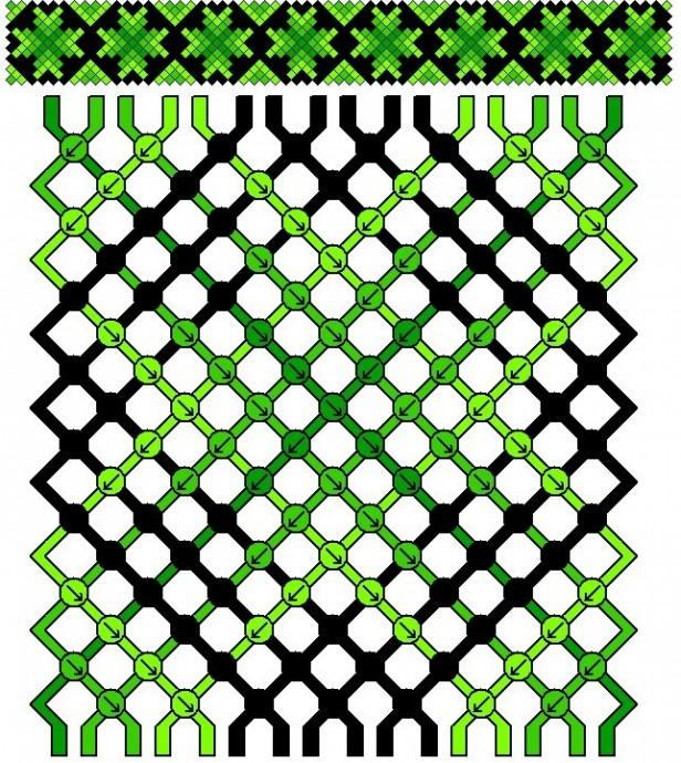 Плетеные браслеты-фенечки 3