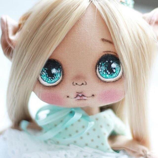 Рисуем лицо куколке