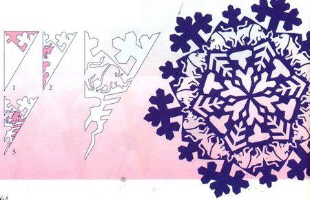 Схемы головокружительных снежинок 0