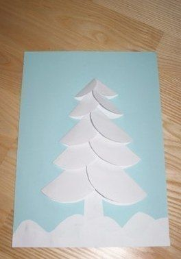 Новогодняя открытка из кружочков 4
