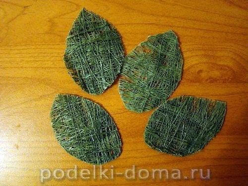 Букет роз из швейных ниток 6