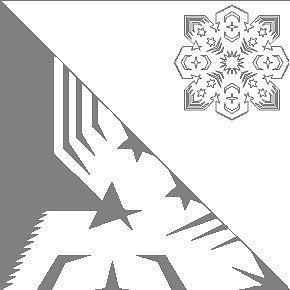 Вырезаем снежинки 2