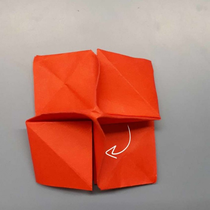 Чудесный цветок оригами 17