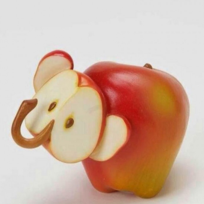 Поделки с детьми из фруктов