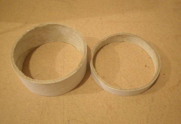 Круглая шкатулка из бобинок от скотча 3