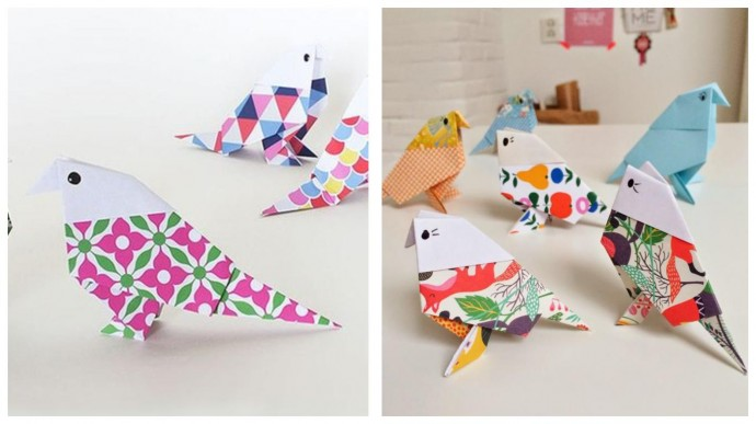 Птички-очаровашки в технике оригами