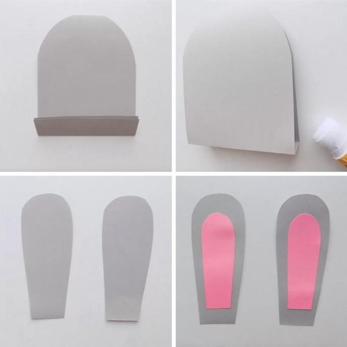 Зайка-попрыгайка из цветной бумаги