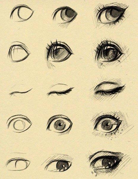 Учимся рисовать элементы лица