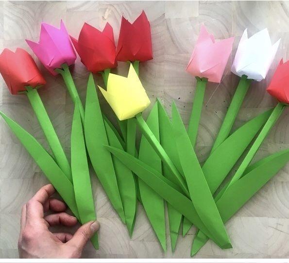 Бумажные тюльпаны