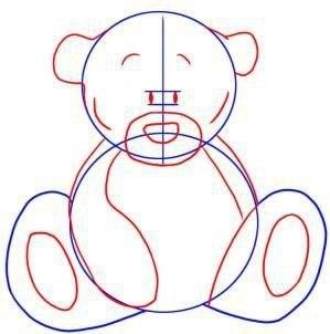 Рисуем мишку Тедди 2