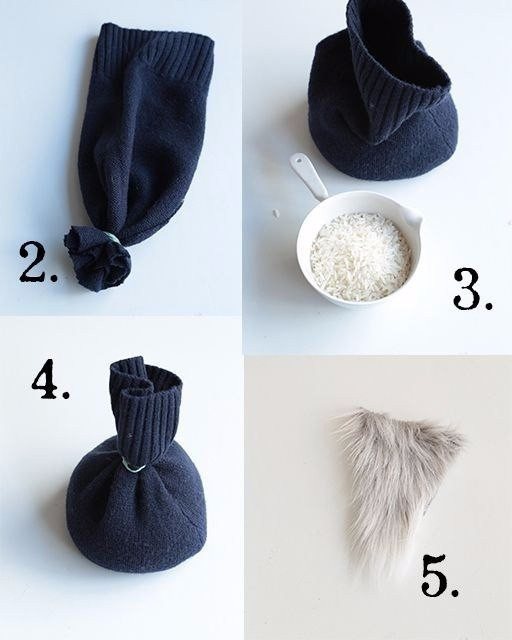 Гномик из старых носков