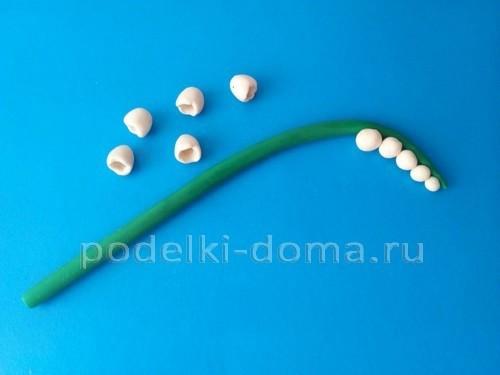 Ландыши из полимерной глины
