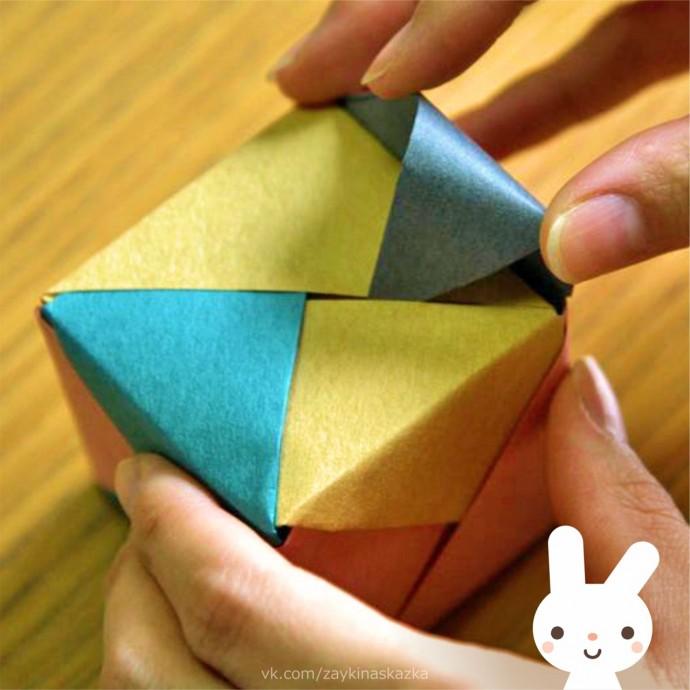 Кубики в технике оригами