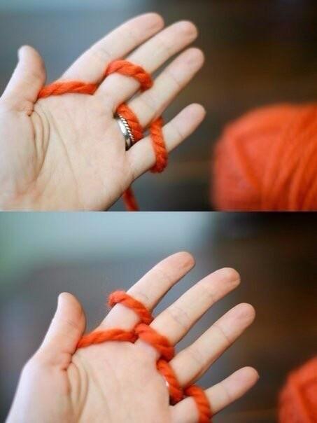 Вязание с детьми на руках