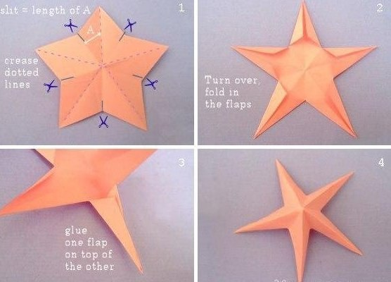 Звёздочки-оригами своими руками