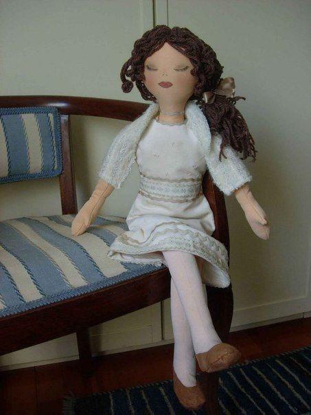 Куколка детскими руками