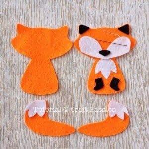 Милые лисички из фетра