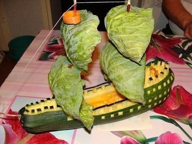 Поделки из овощей: идеи