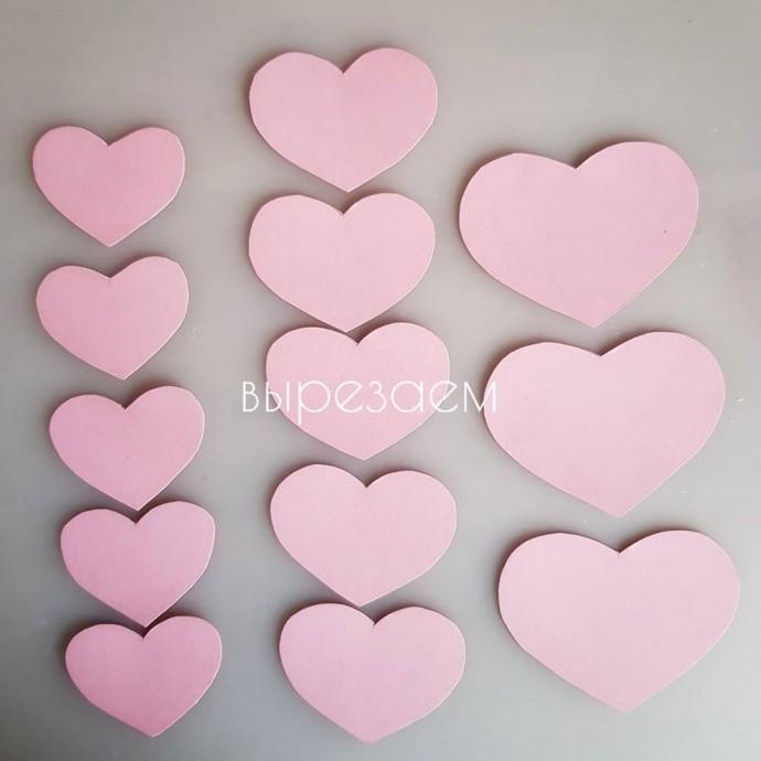 Аппликация с сердечками 3
