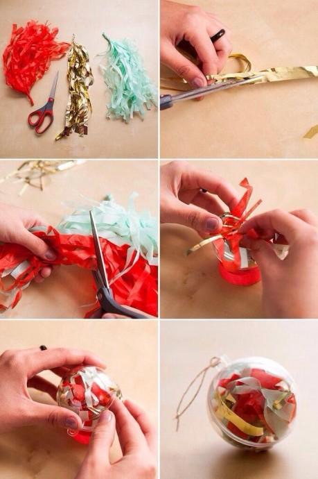 Идеи оформления ёлочных игрушек с детьми 4