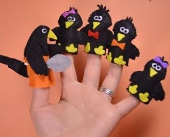 Пальчиковые куклы сороки