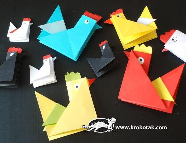 Курочка-оригами