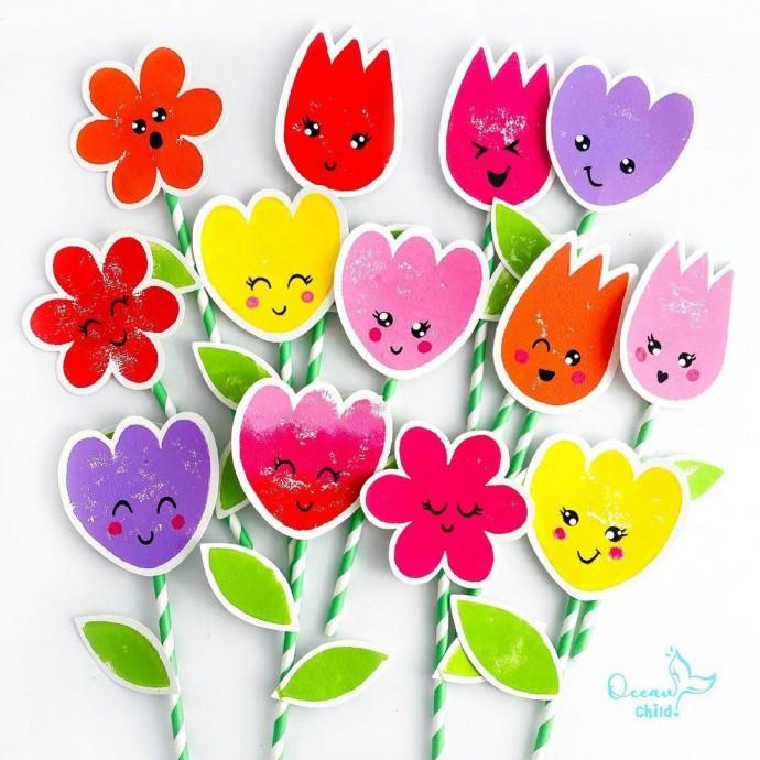 Штампы замечательных летних цветов