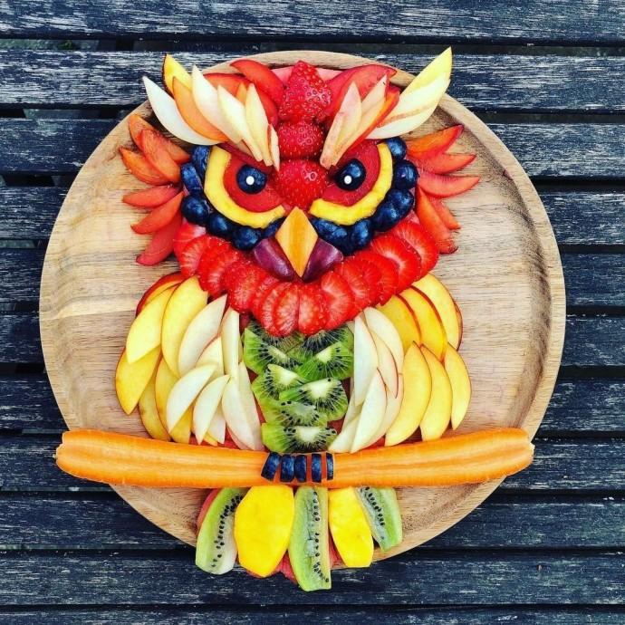 Кpacивыe каpтины из фруктов